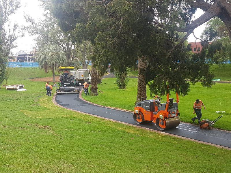 Footpath Asphalting Johnstone Park, Geelong