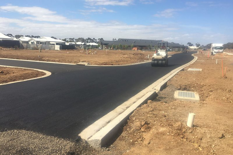 Residential development Road construction