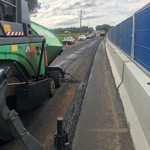 Paver on Drysdale Bypass