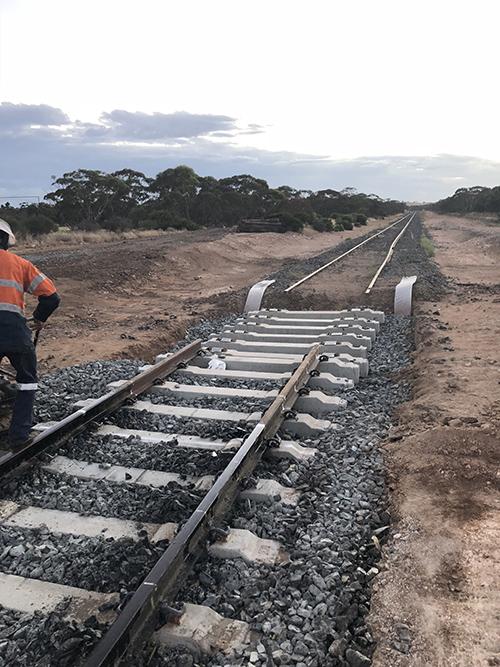 Ouyen Railway Crossing installation
