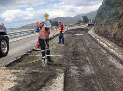 Great Ocean Road Road Construction Profiling