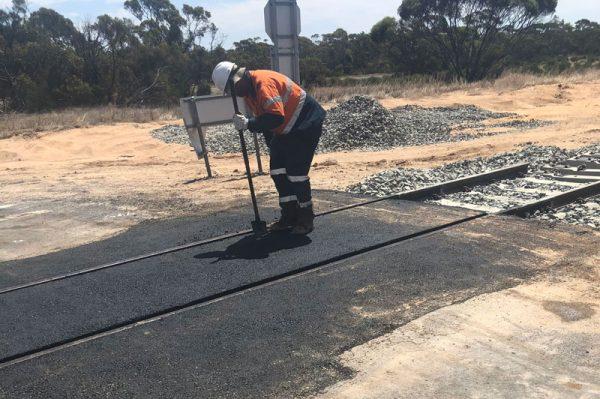 Railway Crossing Ouyen Country Victoria